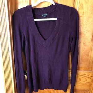 Eggplant-colored Express Sweater